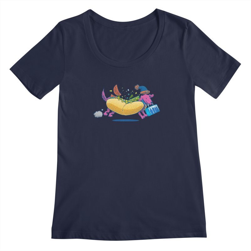 Chicago Dog: Lunch Pail Women's Scoopneck by nickv47