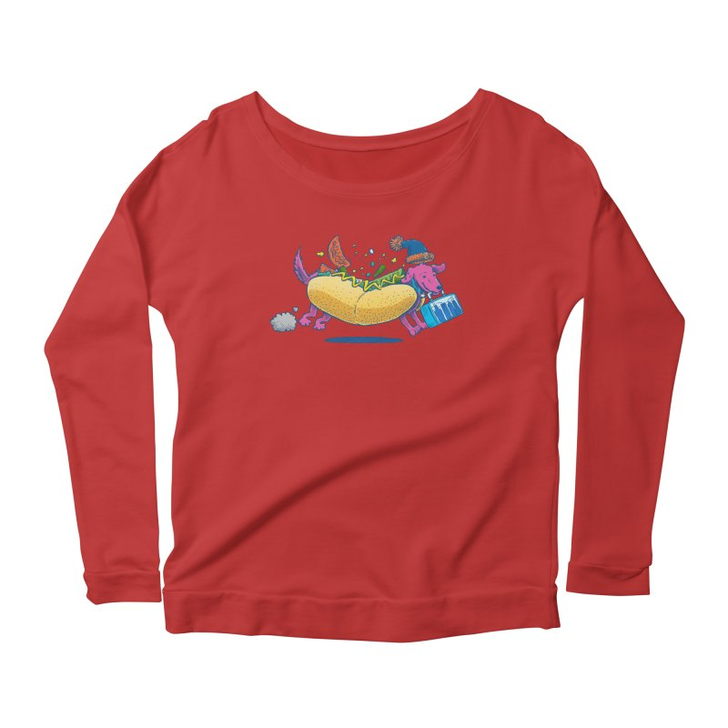 Chicago Dog: Lunch Pail Women's Longsleeve Scoopneck  by nickv47