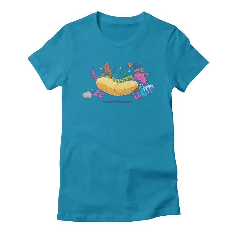 Chicago Dog: Lunch Pail Women's Fitted T-Shirt by nickv47