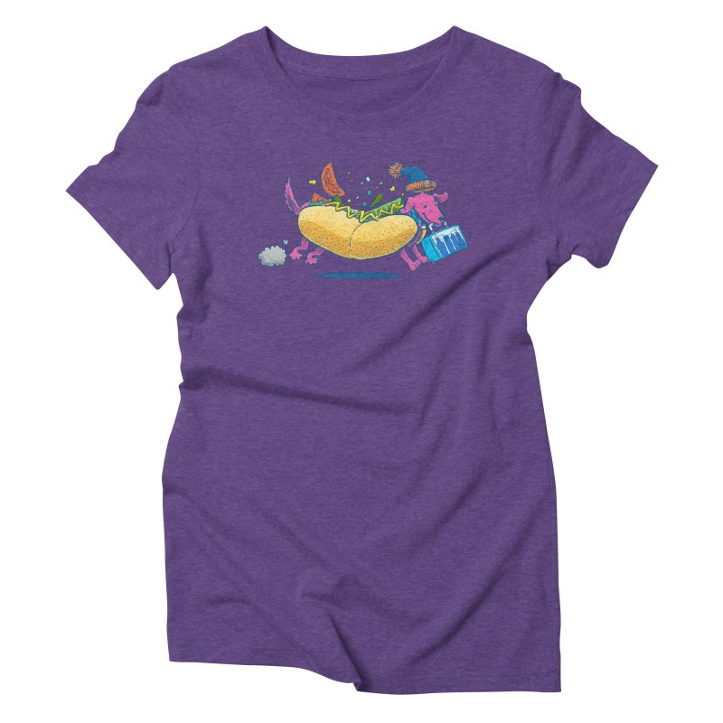 Chicago Dog: Lunch Pail Women's Triblend T-Shirt by nickv47