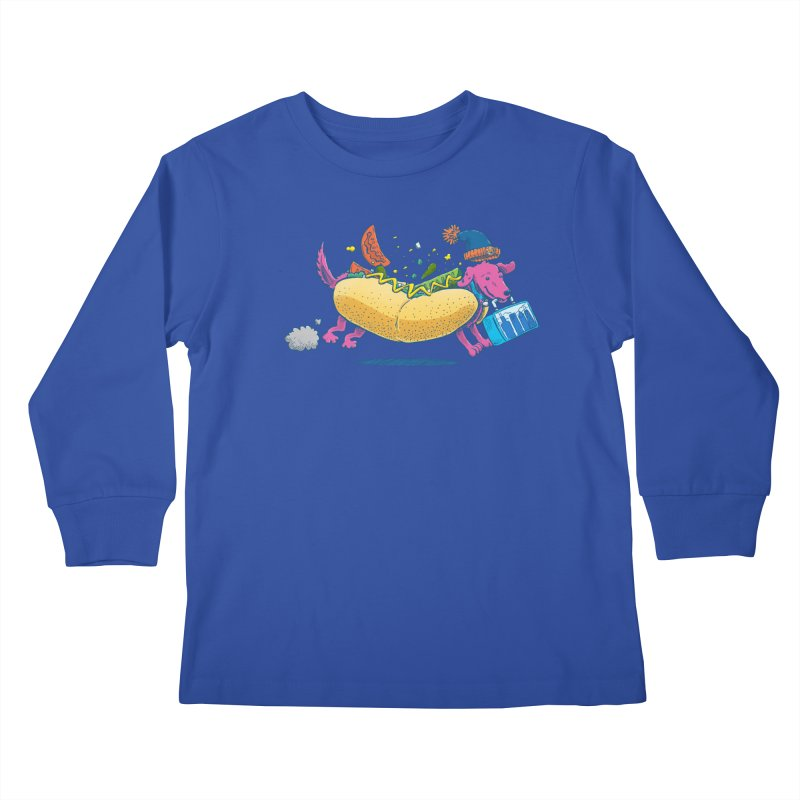 Chicago Dog: Lunch Pail Kids Longsleeve T-Shirt by nickv47