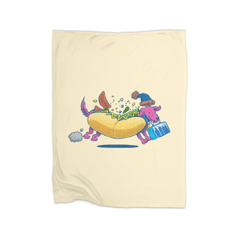 Chicago Dog: Lunch Pail Home Blanket by nickv47