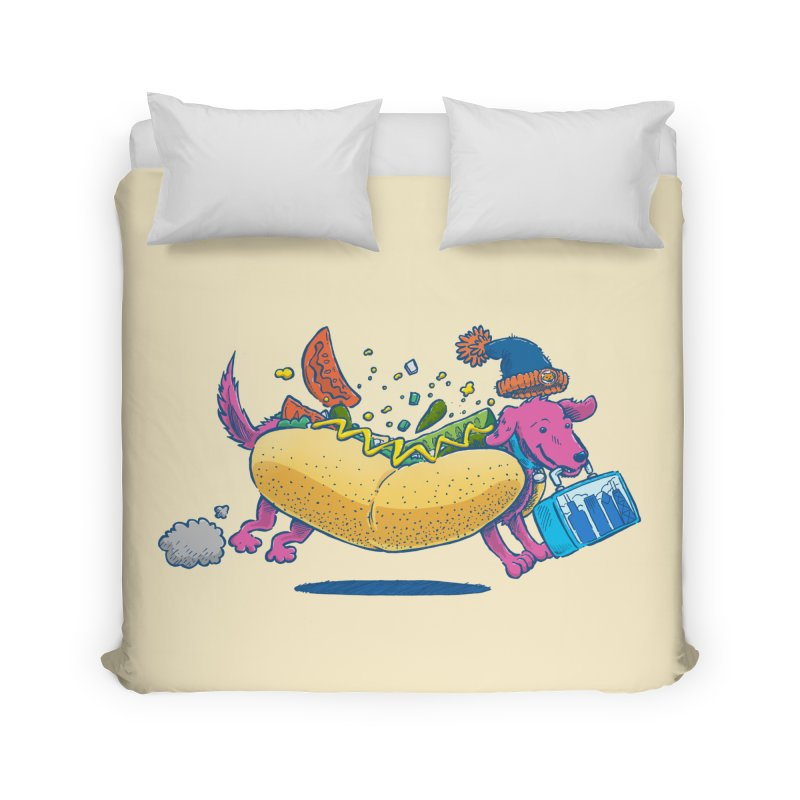 Chicago Dog: Lunch Pail Home Duvet by nickv47
