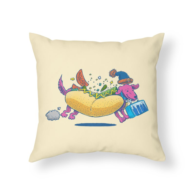 Chicago Dog: Lunch Pail Home Throw Pillow by nickv47