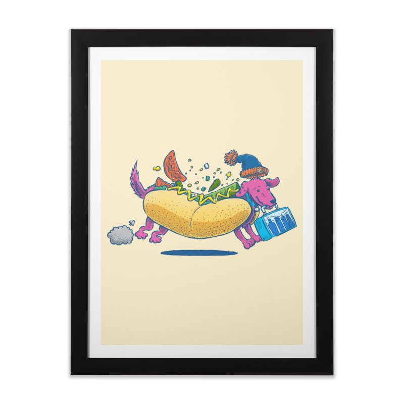 Chicago Dog: Lunch Pail Home Framed Fine Art Print by nickv47