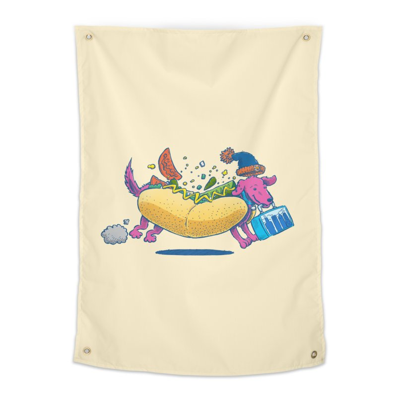 Chicago Dog: Lunch Pail Home Tapestry by nickv47