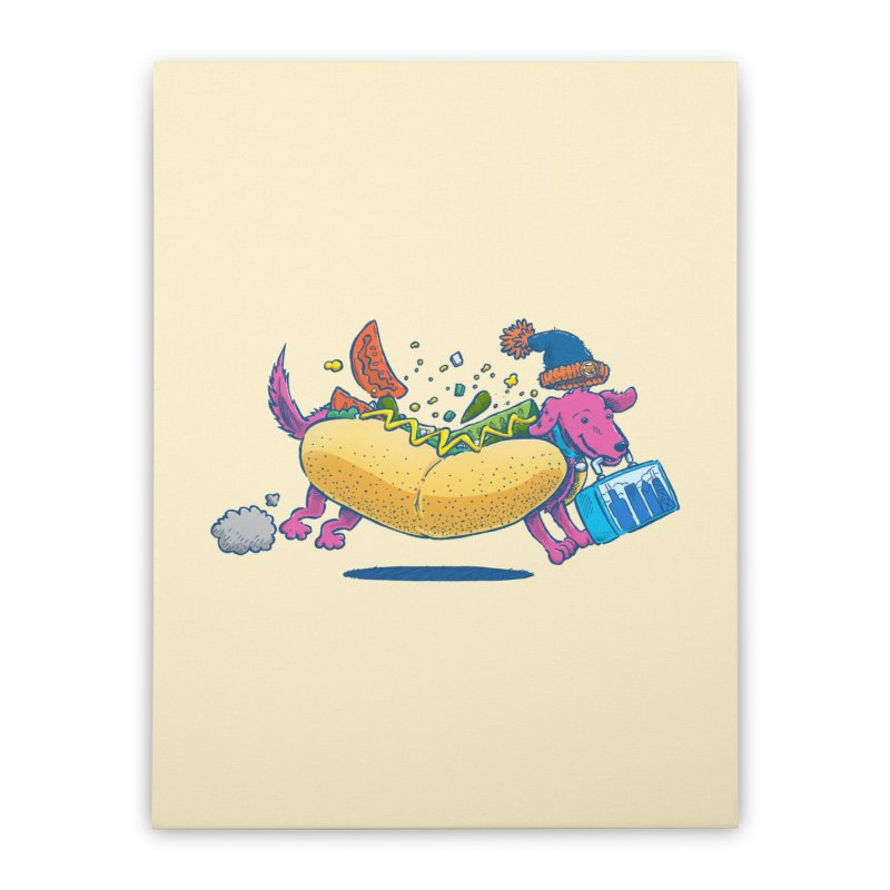 Chicago Dog: Lunch Pail Home Stretched Canvas by nickv47