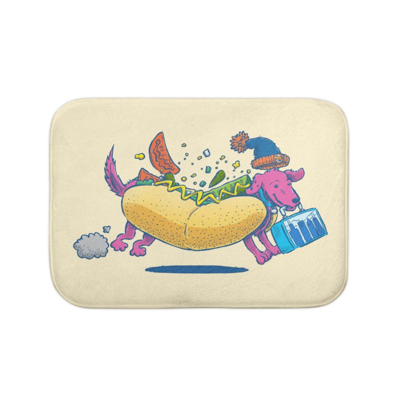 Chicago Dog: Lunch Pail Home Bath Mat by nickv47