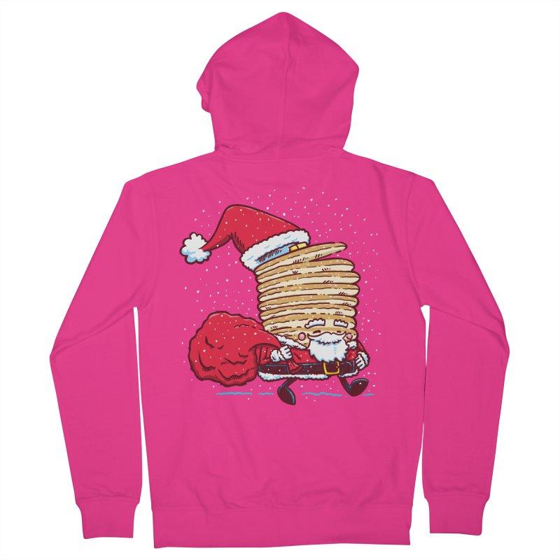 Santa Pancake Men's Zip-Up Hoody by nickv47