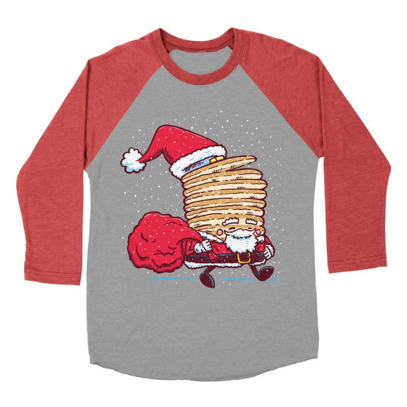 Santa Pancake Men's Baseball Triblend T-Shirt by nickv47