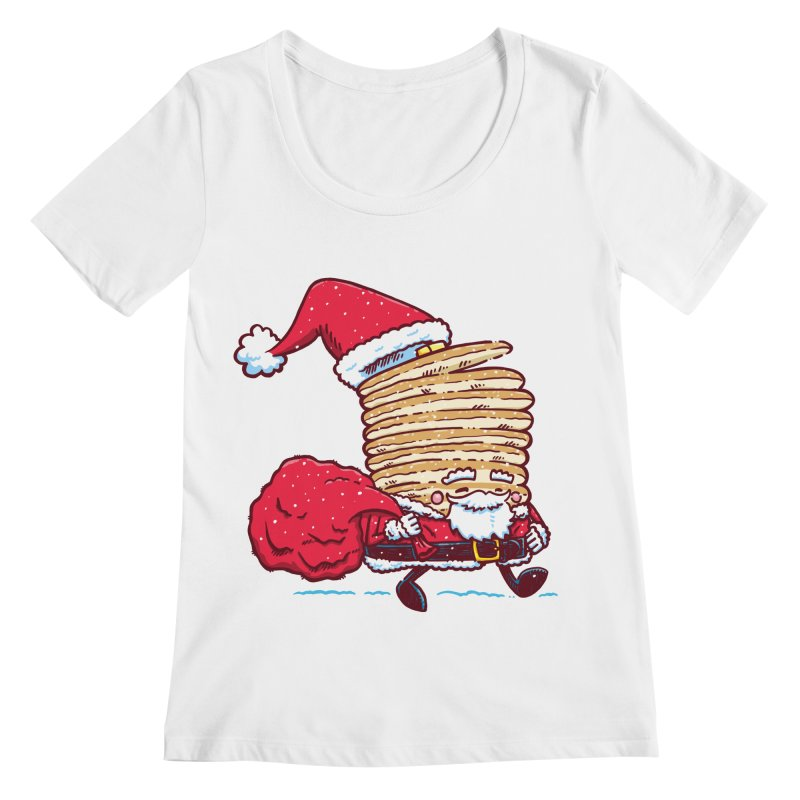 Santa Pancake Women's Scoopneck by nickv47