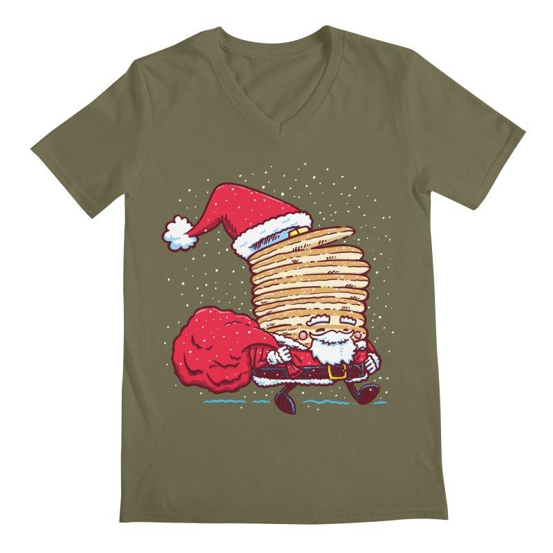 Santa Pancake Men's V-Neck by nickv47