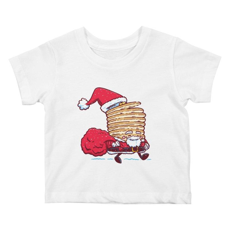 Santa Pancake Kids Baby T-Shirt by nickv47