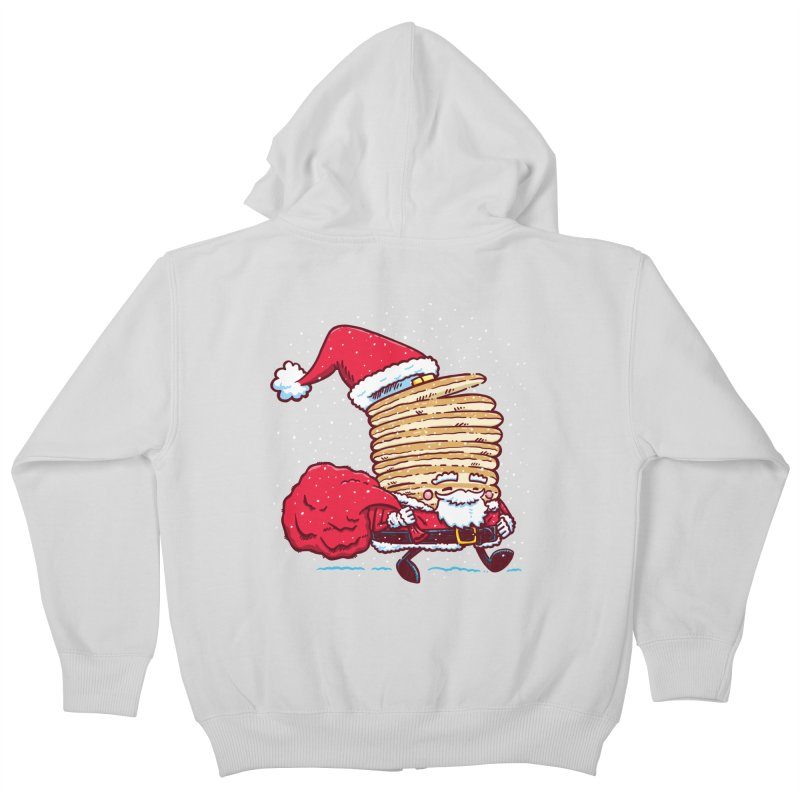 Santa Pancake Kids Zip-Up Hoody by nickv47