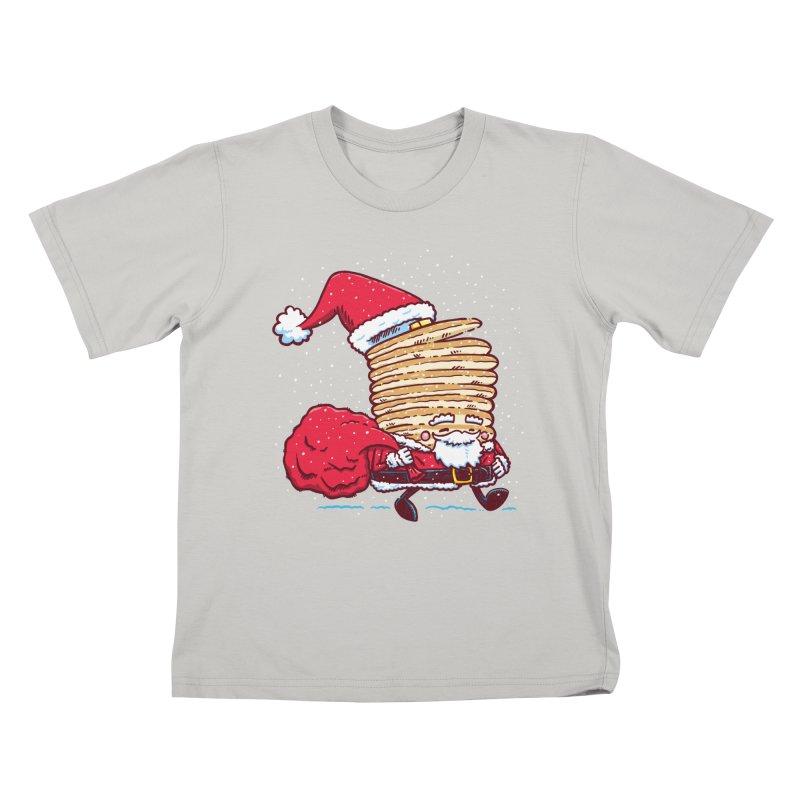 Santa Pancake Kids T-Shirt by nickv47