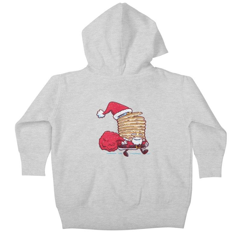 Santa Pancake Kids Baby Zip-Up Hoody by nickv47