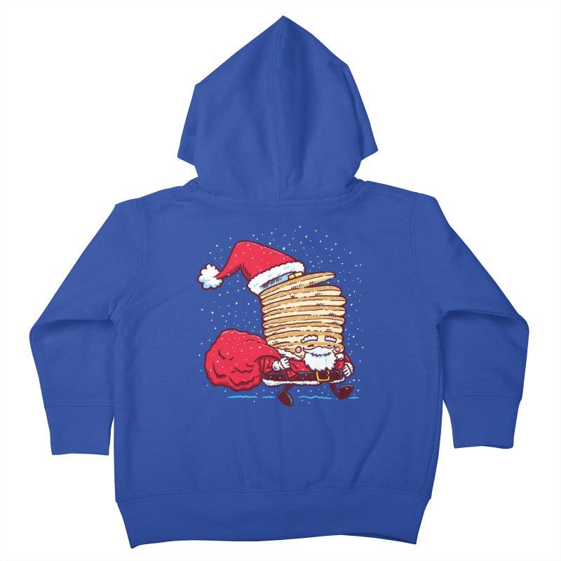 Santa Pancake Kids Toddler Zip-Up Hoody by nickv47