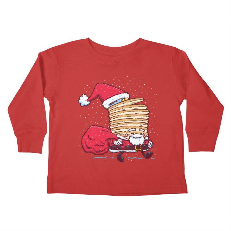 Santa Pancake Kids Toddler Longsleeve T-Shirt by nickv47