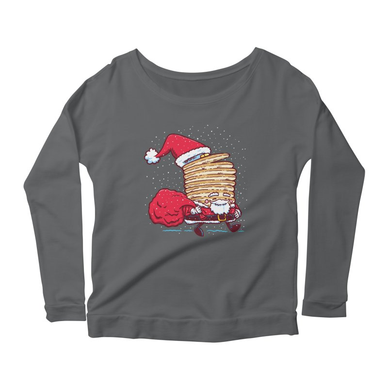 Santa Pancake Women's Longsleeve Scoopneck  by nickv47