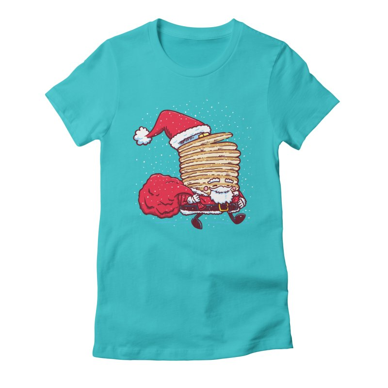 Santa Pancake Women's Fitted T-Shirt by nickv47