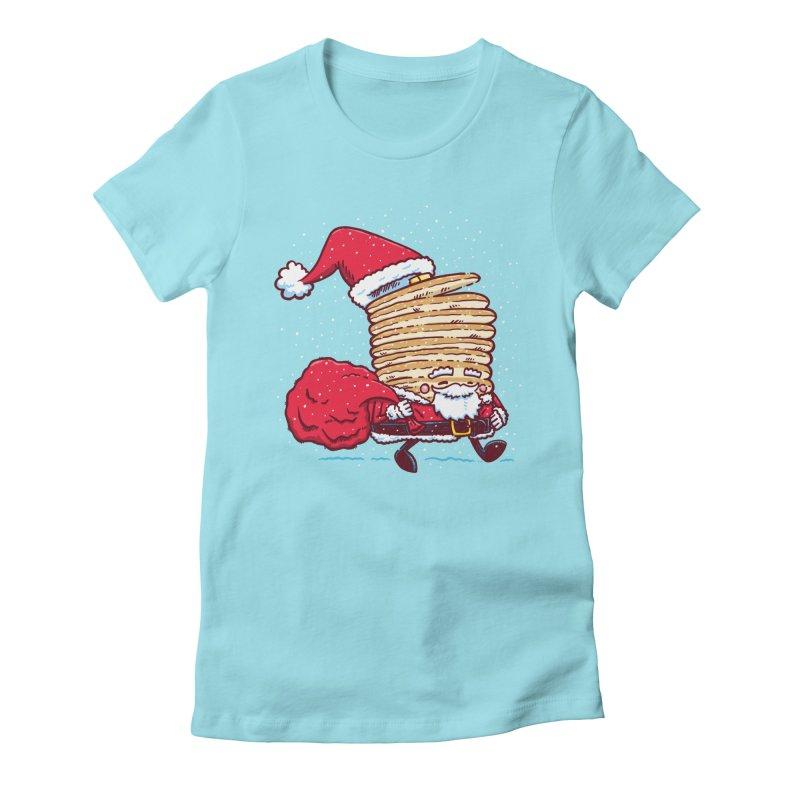 Santa Pancake Women's Fitted T-Shirt by nickv47