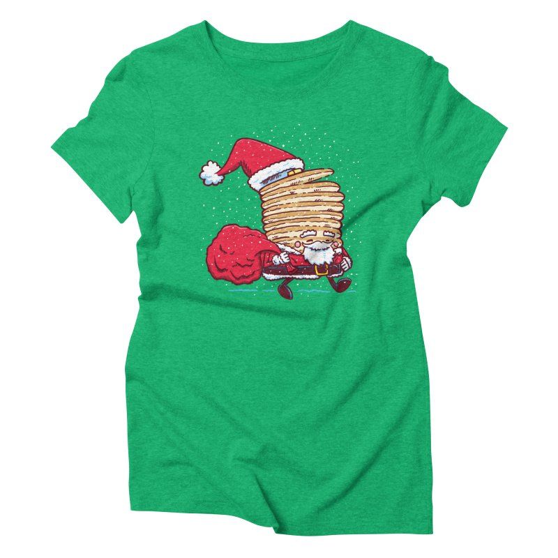 Santa Pancake Women's Triblend T-Shirt by nickv47