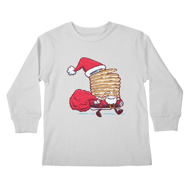 Santa Pancake Kids Longsleeve T-Shirt by nickv47