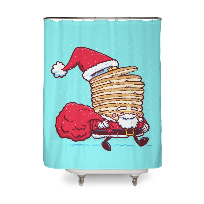 Santa Pancake Home Shower Curtain by nickv47