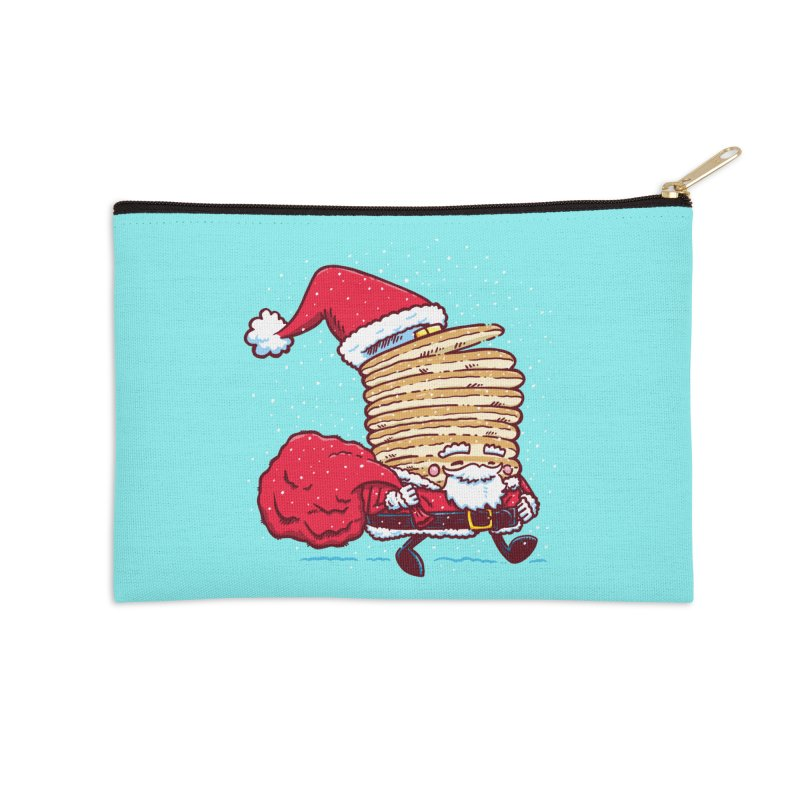 Santa Pancake Accessories Zip Pouch by nickv47