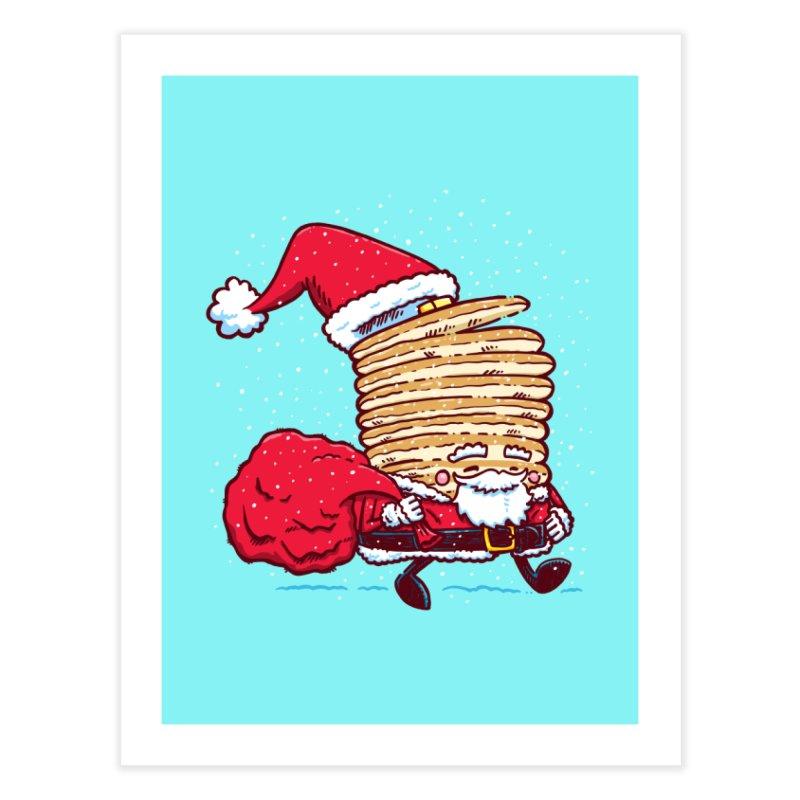 Santa Pancake Home Fine Art Print by nickv47