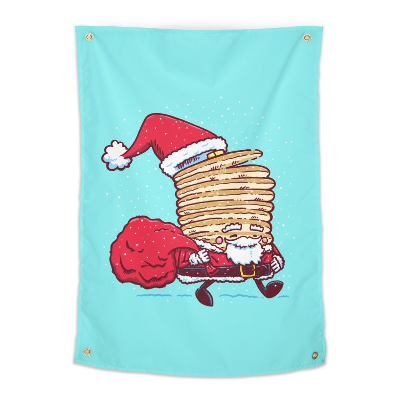 Santa Pancake Home Tapestry by nickv47