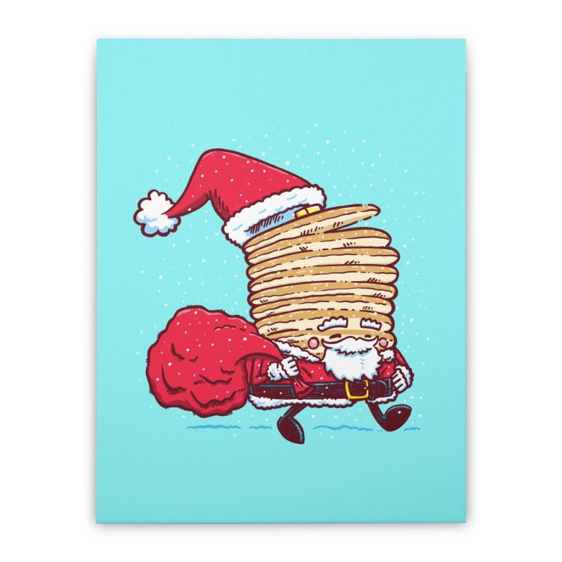 Santa Pancake Home Stretched Canvas by nickv47