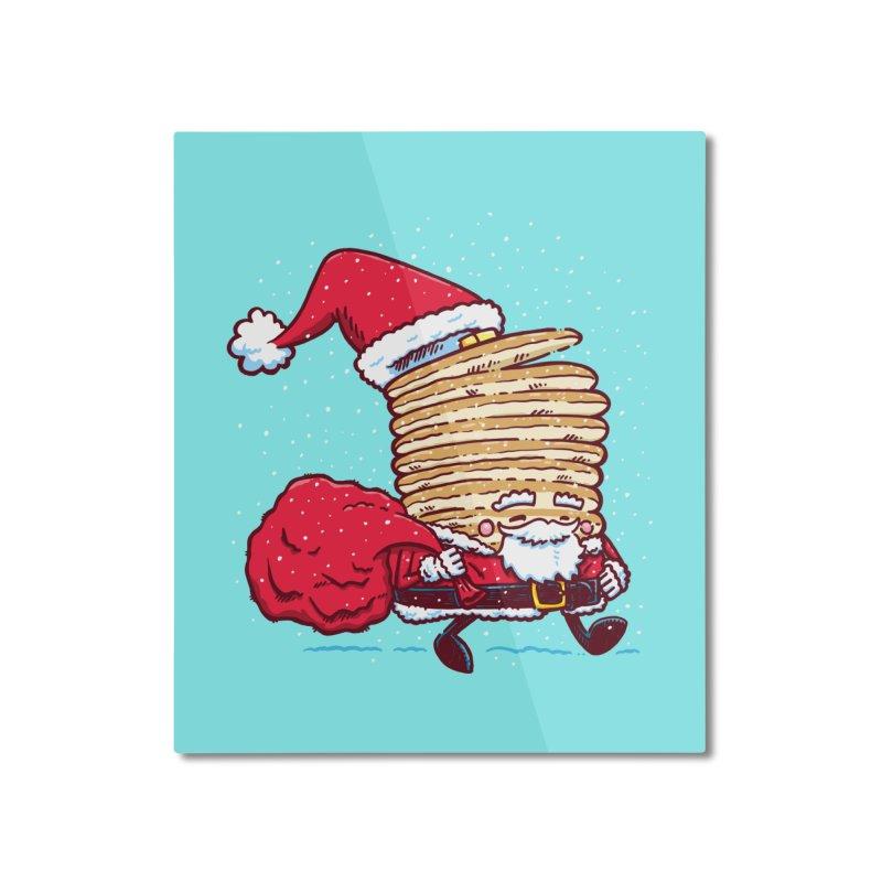 Santa Pancake Home Mounted Aluminum Print by nickv47