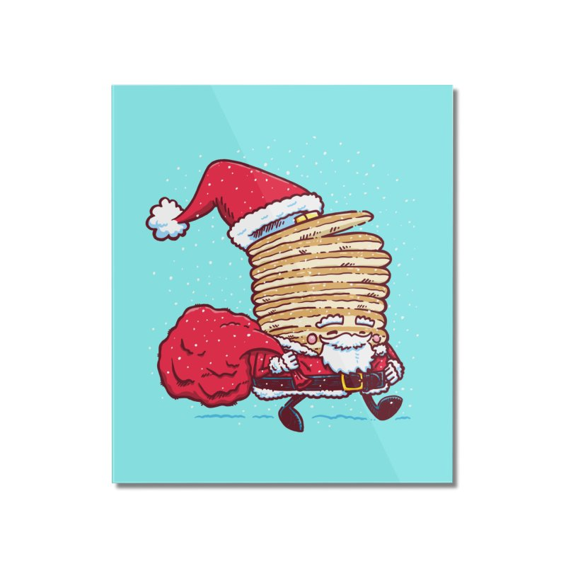 Santa Pancake Home Mounted Acrylic Print by nickv47