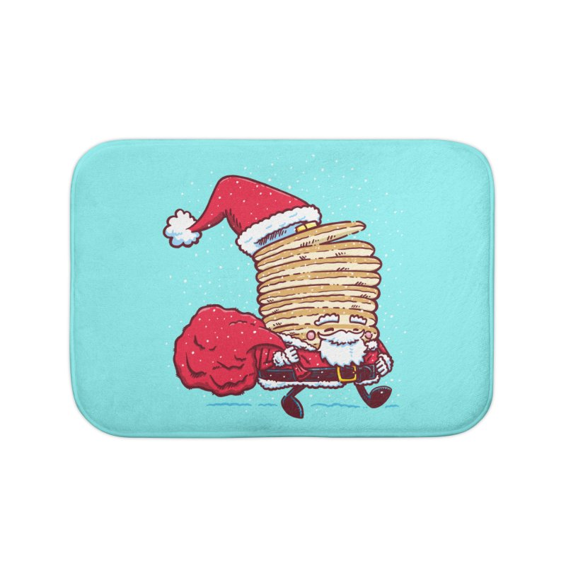 Santa Pancake Home Bath Mat by nickv47