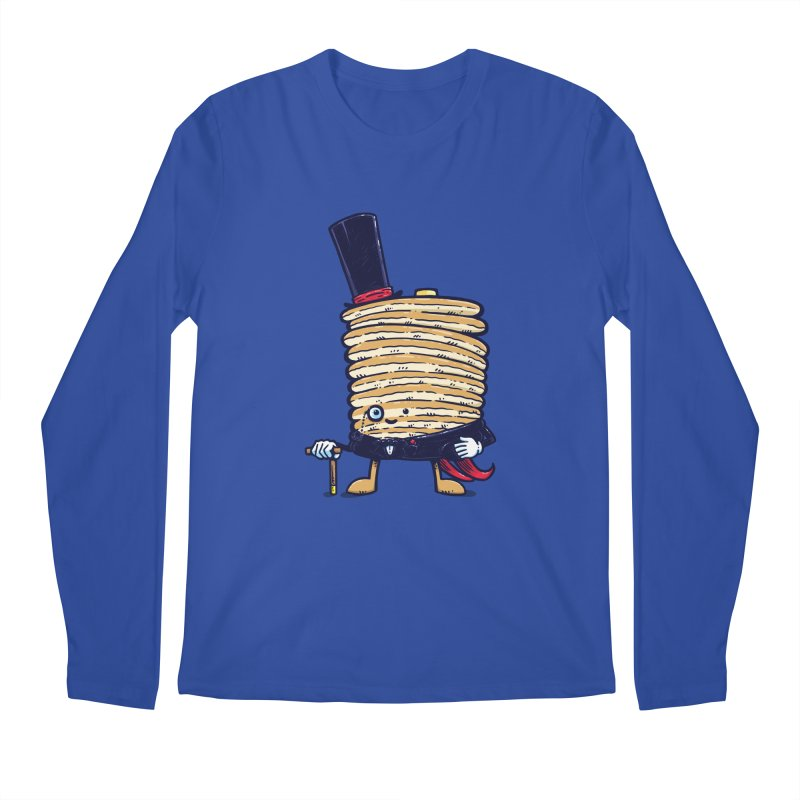 Fancy Captain Pancake Men's Longsleeve T-Shirt by nickv47