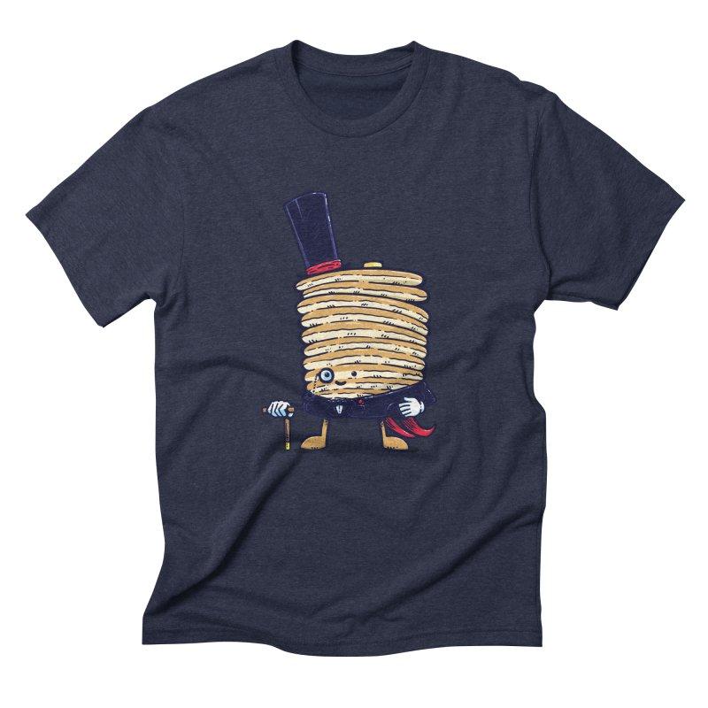 Fancy Captain Pancake Men's Triblend T-Shirt by nickv47