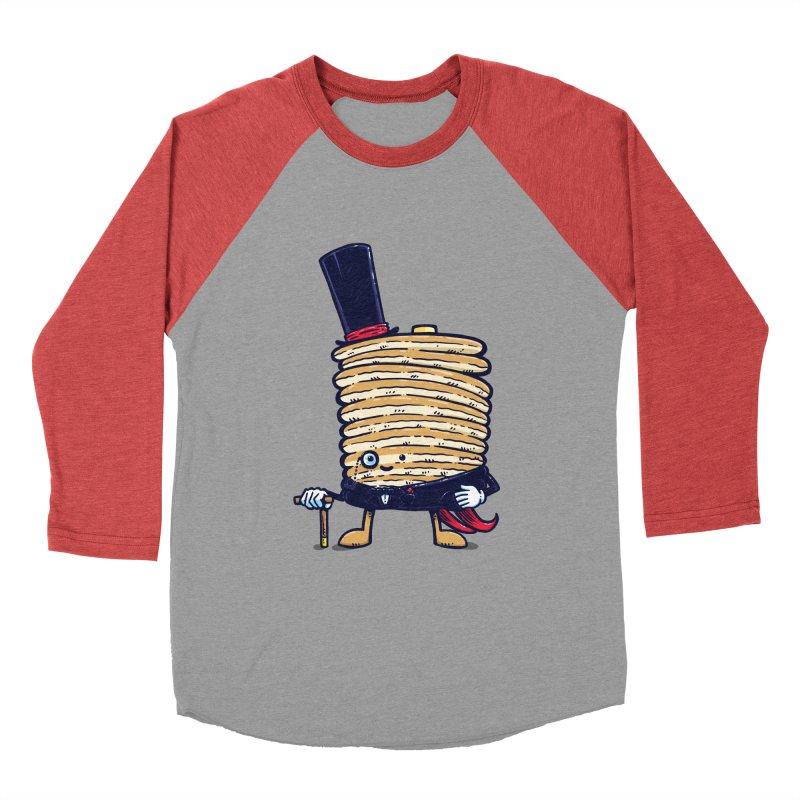 Fancy Captain Pancake Women's Baseball Triblend T-Shirt by nickv47