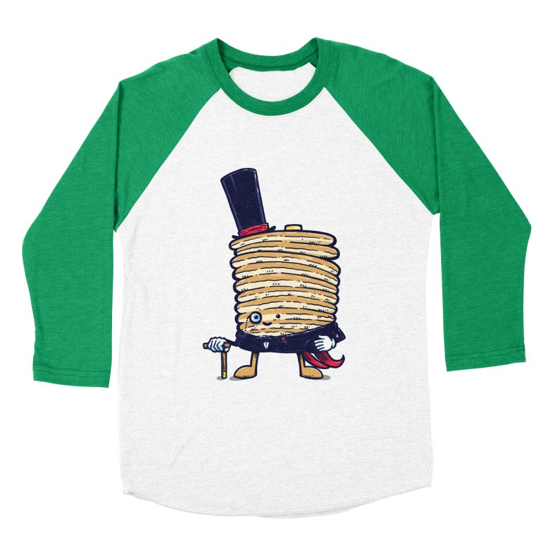 Fancy Captain Pancake Men's Baseball Triblend T-Shirt by nickv47
