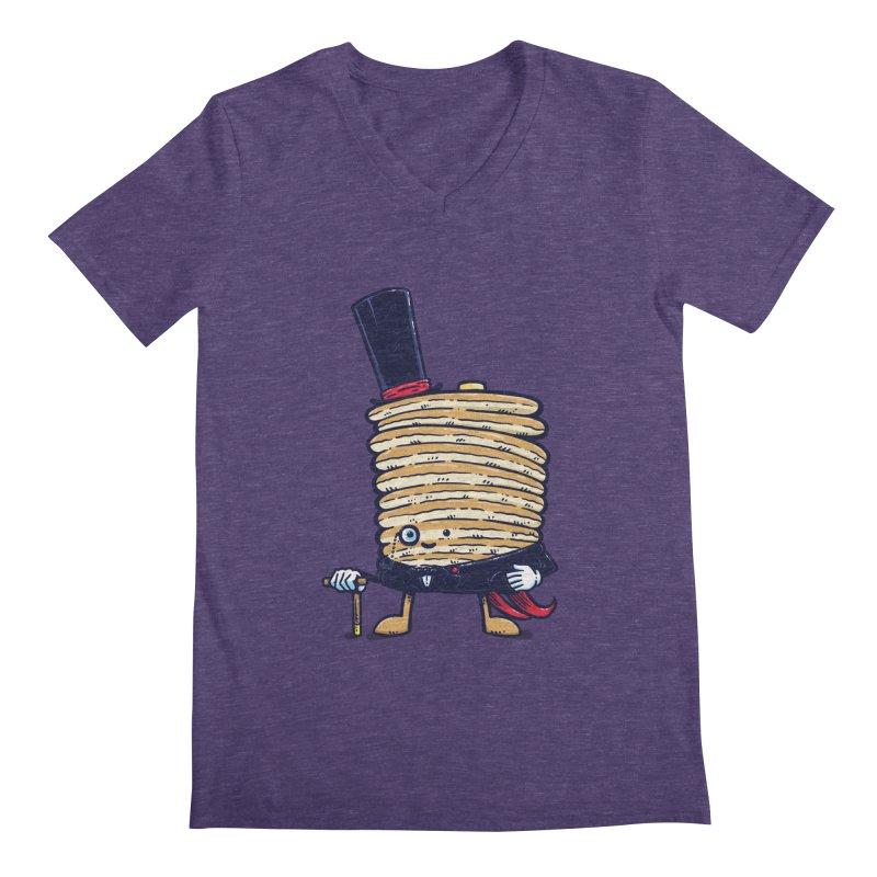Fancy Captain Pancake Men's V-Neck by nickv47