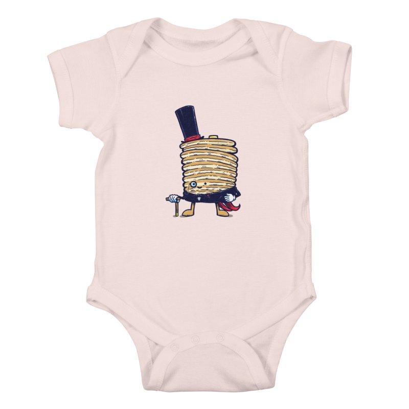 Fancy Captain Pancake Kids Baby Bodysuit by nickv47
