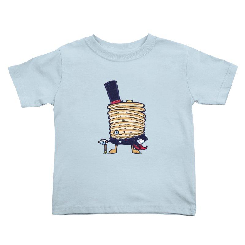 Fancy Captain Pancake Kids Toddler T-Shirt by nickv47