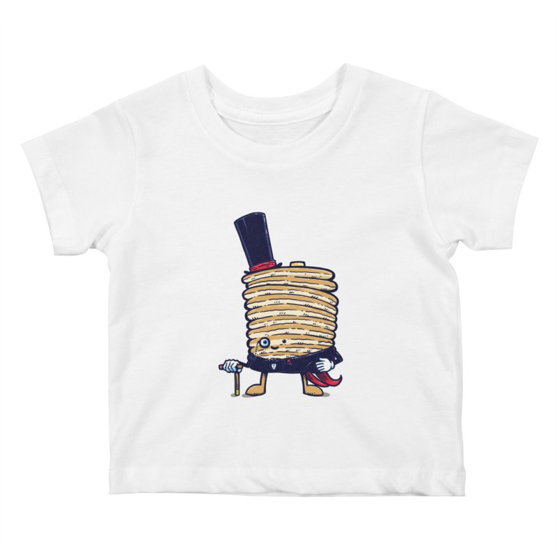 Fancy Captain Pancake Kids Baby T-Shirt by nickv47