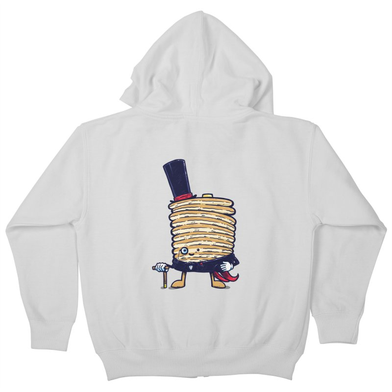 Fancy Captain Pancake Kids Zip-Up Hoody by nickv47