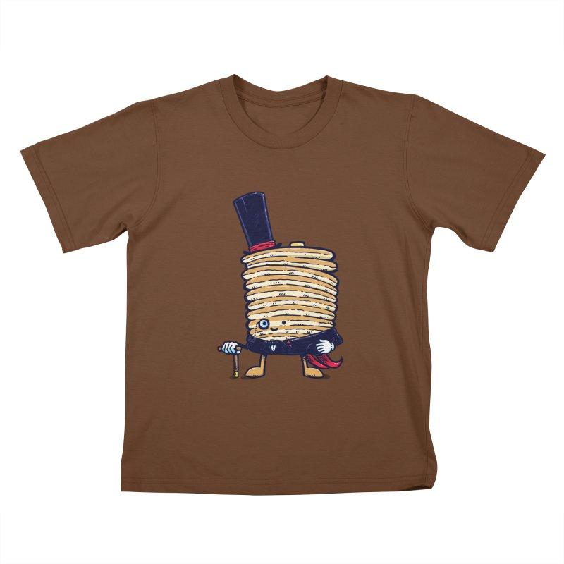 Fancy Captain Pancake Kids T-Shirt by nickv47