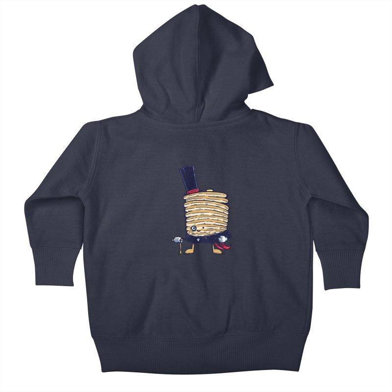 Fancy Captain Pancake Kids Baby Zip-Up Hoody by nickv47