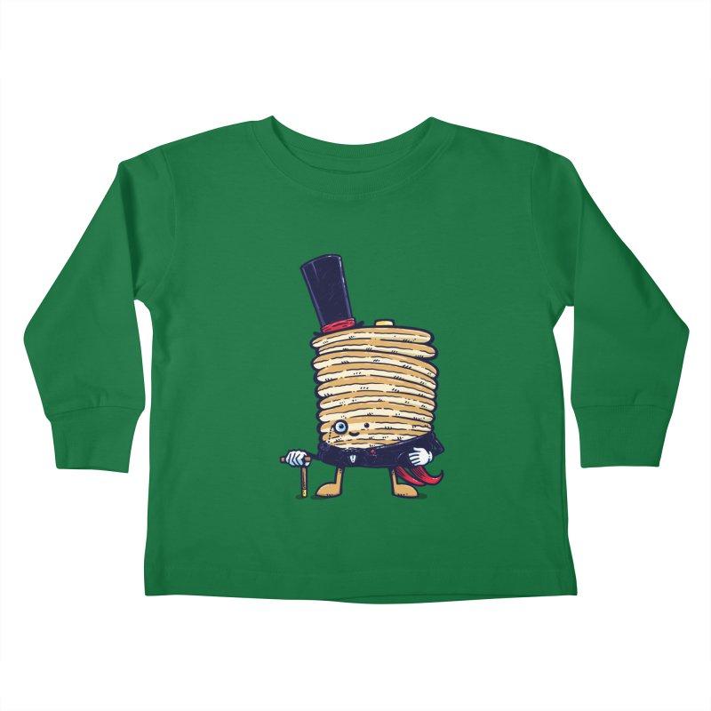 Fancy Captain Pancake Kids Toddler Longsleeve T-Shirt by nickv47