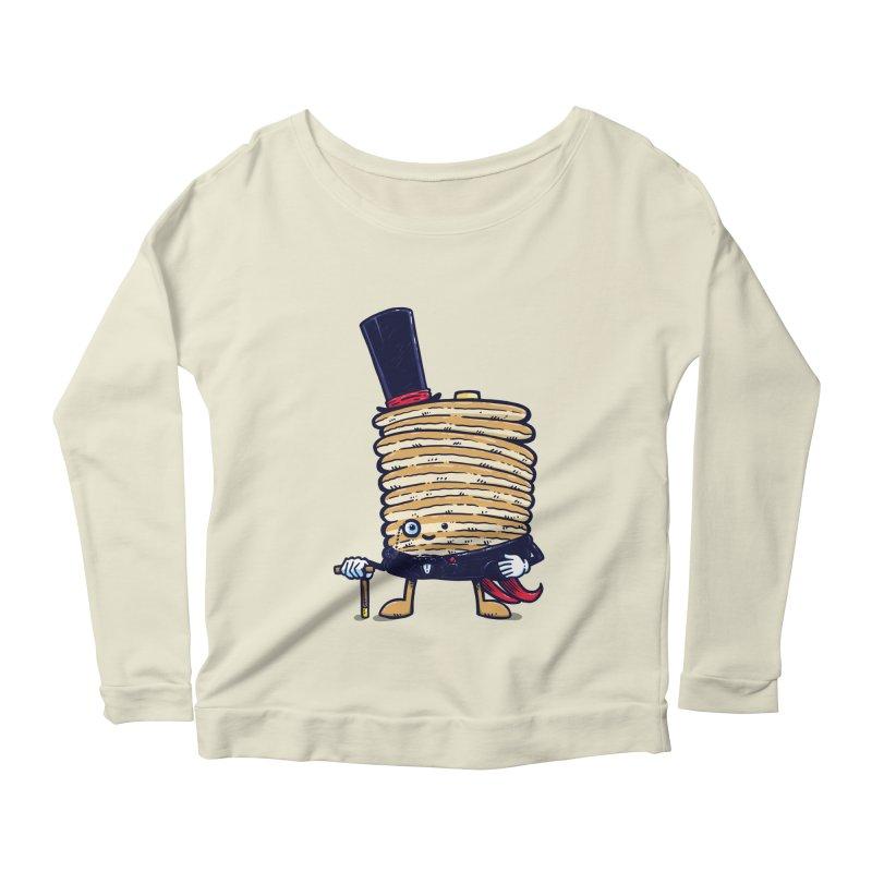 Fancy Captain Pancake Women's Longsleeve Scoopneck  by nickv47