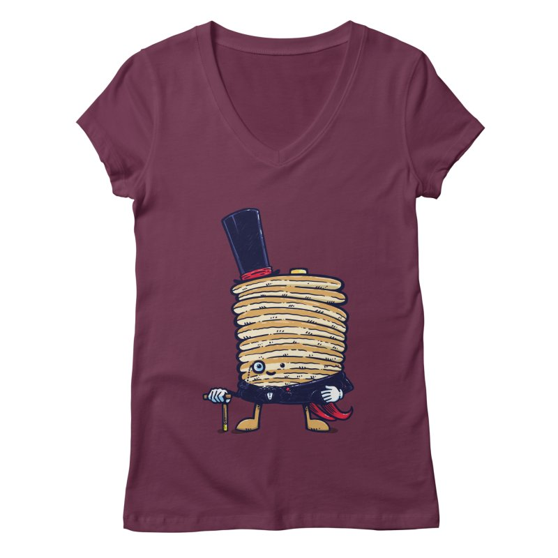 Fancy Captain Pancake Women's V-Neck by nickv47