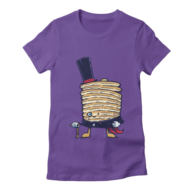 Fancy Captain Pancake Women's Fitted T-Shirt by nickv47